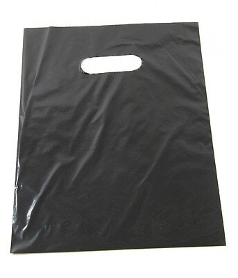 100 9 X 12 Black Glossy Low-density Plastic Merchandise Bags