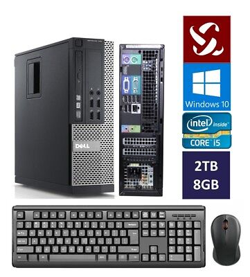 Dell Quad Core i5 3.10GHz Desktop Computer 2TB | 8GB | Windows 10 | Wifi