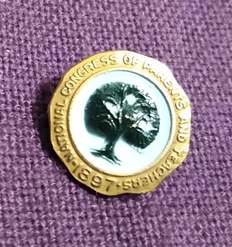 National Congress Of Parents & Teachers Gold Filled Pin Enamel, 1897, 1/20 10K