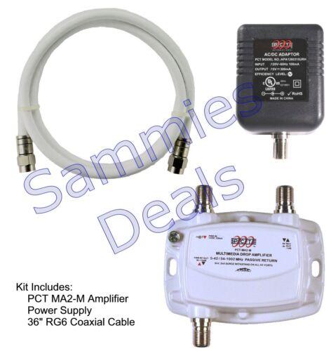 1-Port Cable TV OTA HDTV Amplifier Splitter Signal Booster