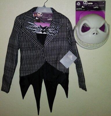 NEW Childs Jack Skellington Jacket Tie Mask Costume Set Official Disney Licensed - Disney Jack Skellington Costume Kids