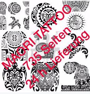 Tattoovorlagen Flash Dvd Maori/Polynesian 735 Seiten Top Neu als download