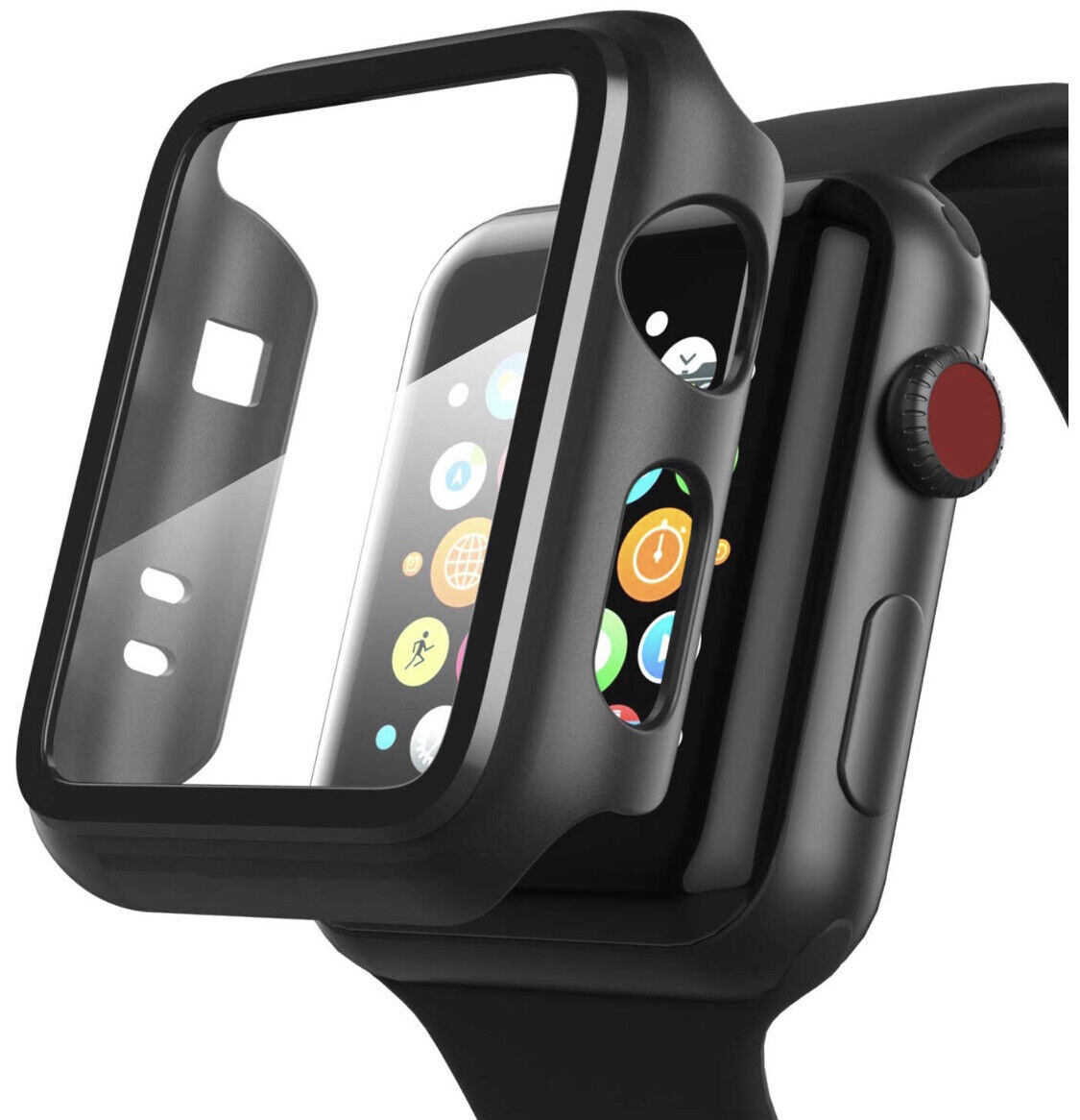 iWatch Apple Watch Series 4 3 2 1 Hybrid Protective Case Full Cover With Screen Cases, Covers & Skins
