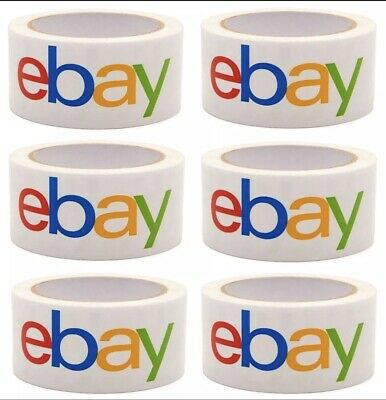 6 Rolls Of Official Ebay Branded Tape Packing Shipping Supplies 75 X 2 2-3 Day