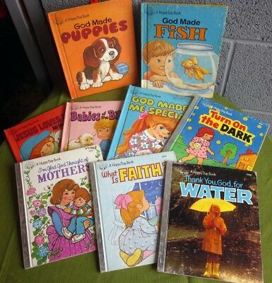 HAPPY DAY BOOKS lot of 9 kids Christian set 1980-1985 God Made Me Special puppy ()