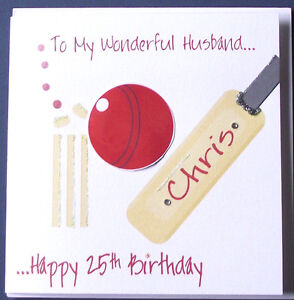 PERSONALISED-HANDMADE-CRICKET-BIRTHDAY-CARD-HUSBAND-BOYFRIEND-SON-ETC-NEW