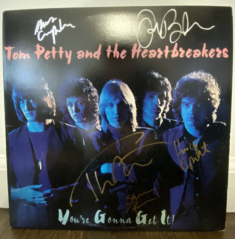 Tom Petty & The Heartbreakers Signed LP Your Gonna Get It 5 Members