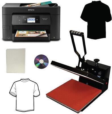 New 15x15 Heat Transfer Press Wireless All In One Printer Transfer Paper Tshirts