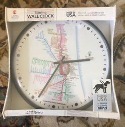 Chicago Lighthouse Atomic Slimline Clock, Chicago Transit authority Sealed New