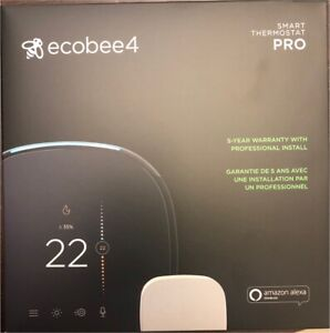 ecobee4 Alexa-Enabled Thermostat - NO SENSOR INCLUDED