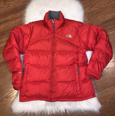 The North Face 700 Series Goose Down Red Puffy Puffer Jacket Womens Large