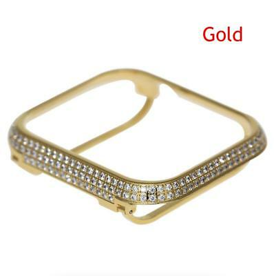 (Rhinestone Crystal Diamond Case Bezel Cover For Apple Watch Series 4 40mm 44mm)