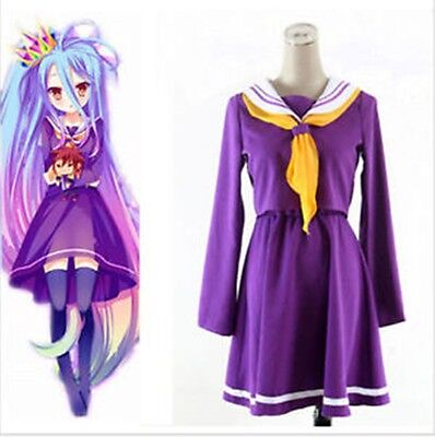 HOT NO GAME NO LIFE Shiro Girl Purple Dress Halloween Anime Cosplay Costume](Hot Halloween Girl)