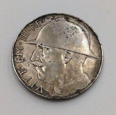 1928 R Italy Silver 20 Lire World War I