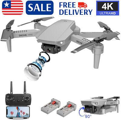 Mini Drone FPV WIFI Drone With HD 4K Camera 4CH Gyro Foldable Arm RC Quadcopter