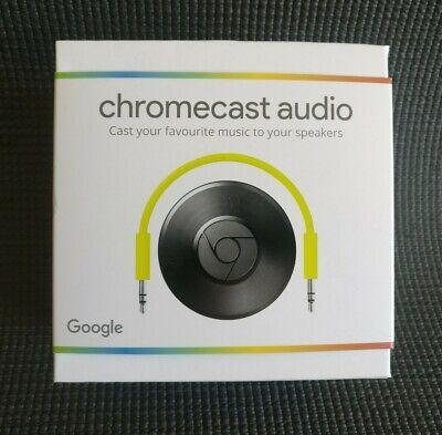 Google Chromecast Audio 2nd Generation Music Streamer Black Boxed & Hardly Used