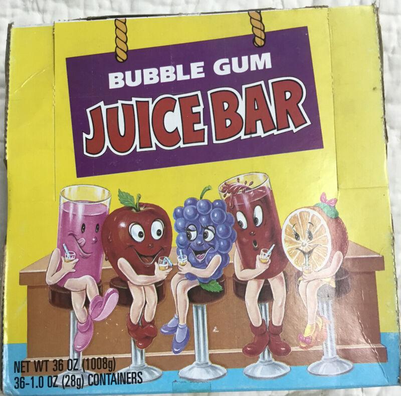 Vintage Topps 1994 Bubble Gum Juice Bar 36 Ct
