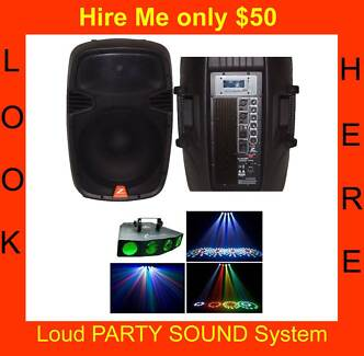 IPOD Party sound system with Disco Lights only $50 for weekend Campbelltown Campbelltown Area Preview
