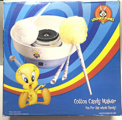 Looney Tunes Cotton Candy Maker Machine Kit New Open Boxbox Damage