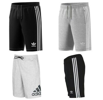 Adidas Originals French Terry Cotton Gym Sports Shorts Knee Length Pockets