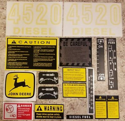 John Deere 4520 Decal Set