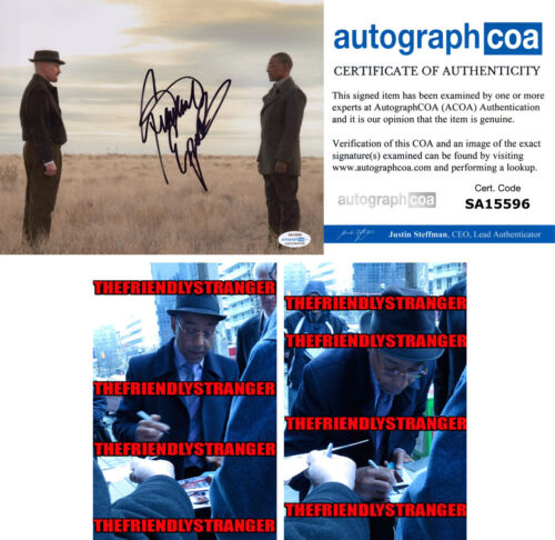 """GIANCARLO ESPOSITO signed Autographed """"BREAKING BAD"""" 8X10 PHOTO a PROOF Gus ACOA"""