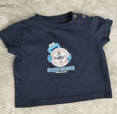 Boston University Baby T-Shirt 12M Cookie Monster Champion 2006 Rare Vtg TD EUC