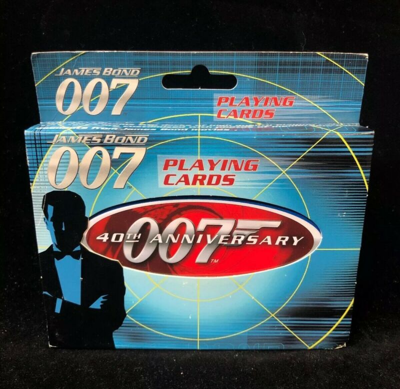 James Bond 007 40th Anniversary Tin w/ 2 Decks Of Playing Cards