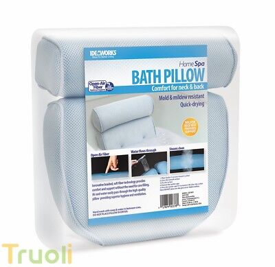 Home Spa Bath Pillow Comfort Neck Back Bathroom Cushion Easy Clean
