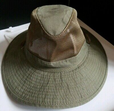 Dorfman Pacific Safari Hat (Dorfman Pacific Mens Outback Hat DPC Mesh 100% Cotton Khaki Safari Boonie Sz M )