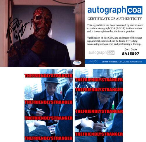"Rare GIANCARLO ESPOSITO signed Autographed ""BREAKING BAD"" 8X10 PHOTO Proof ACOA"