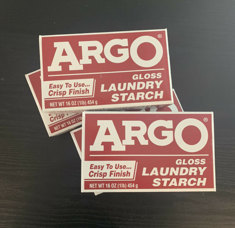 (Lot of 4) ARGO Gloss Laundry Starch Crisp Finish (16 oz) Sealed Boxes Exp 2019