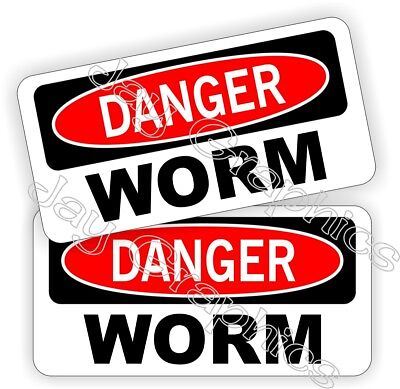 Oil Field Hard Hat Stickers Danger Worm Oilfield Helmet Motorman Funny Decals