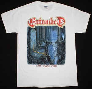 ENTOMBED-LEFT-HAND-PATH90-DEATH-NIHILIST-UNLEASHED-MORGOTH-NEW-WHITE-T-SHIRT