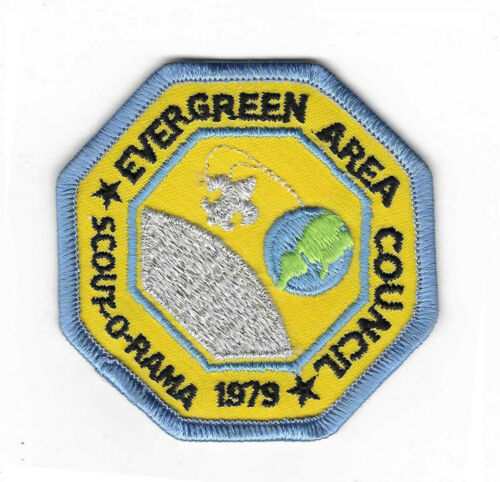 """Vintage BSA Evergreen Area Council Scout-O-Rama 1979 Patch 3"""""""