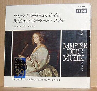 LP Pierre Fournier Haydn Boccherini Cellokonzert SGKO Karl Münchinger  Decca