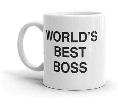 Dunder Mifflin Inc  Worlds Best Boss - The Office - Hot Cocoa,  Mug 11 oz, (World's Best Boss Gifts)