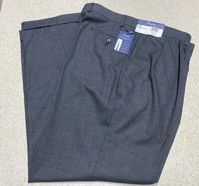 Ralph Lauren Comfort Flex Pleated Front Slacks Pants BLK Gray- Men's Size 36x30