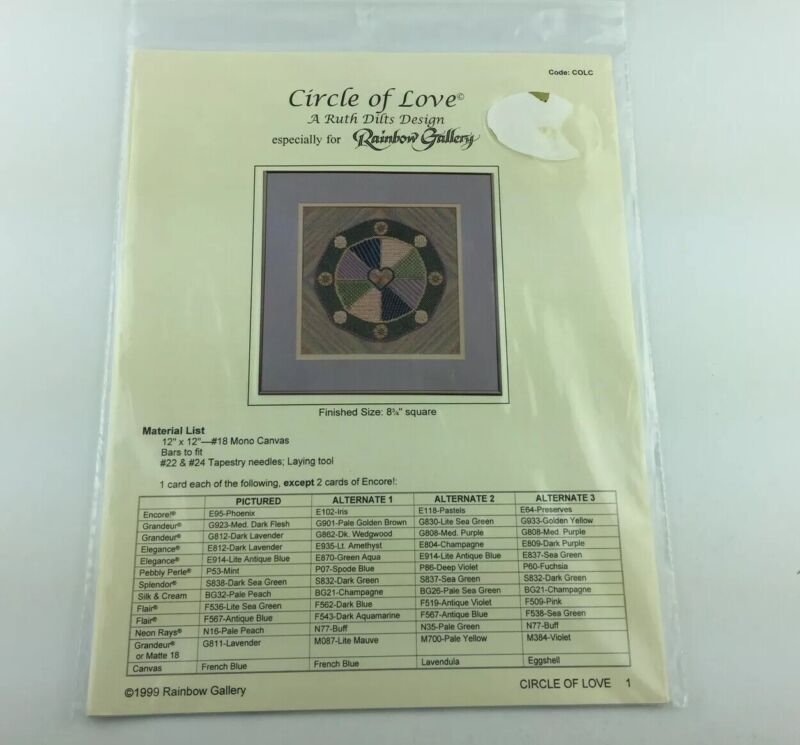 Rainbow Gallery Circle Of Love Needlepoint Pattern By Ruth Dilts Design