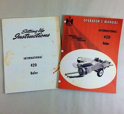 Lot International 420 Baler Operators Owners Setup Assembly Manual Square Ih