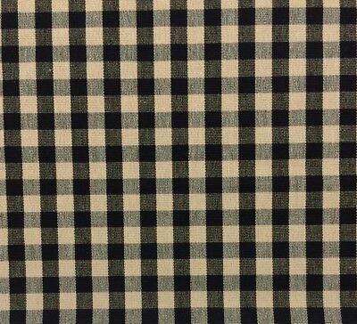 Ballard Designs Small Check Black Cream Checker Multipurpose Fabric By Yard 56 W