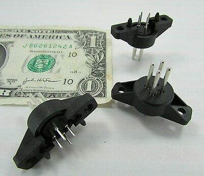 10 Fci Automotive 4-pin Panel Mounted Connectors Feedthrough Component 15-409978