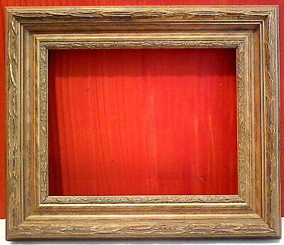 """11 X 14 STANDARD PICTURE FRAME CLASSIC Carved GOLD LEAF 3"""" WIDE w/ allowance"""