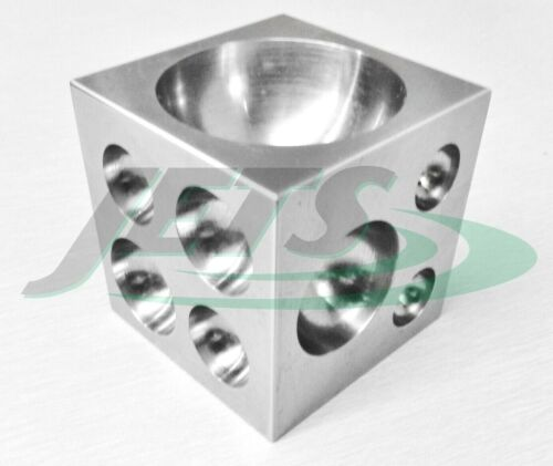 """Steel Dapping Block 2"""" Square Cube Punch and Form Doming Jewelry Making Tool"""