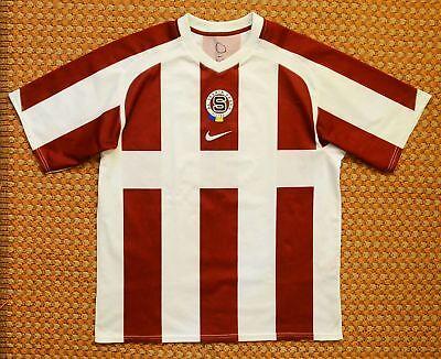 2005 - 2006 Sparta Praha, Home Striped Football Shirt by Nike, Mens Large 183 image
