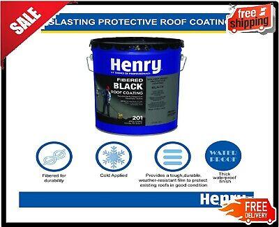 Henry201fiberedblackasphaltroofcoating-4.75 Gallon
