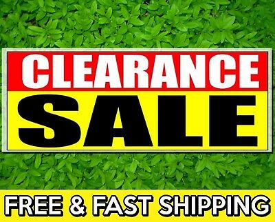 72 Clearance Sale Sign Banner 13oz Vinyl W Grommets Retail Store Offer