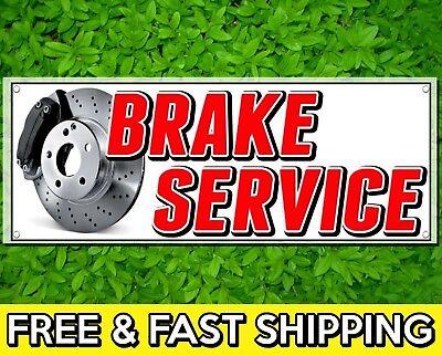 18 X 48 Brake Service Sign Banner 13oz Vinyl W Grommets Car Tires Mechanic
