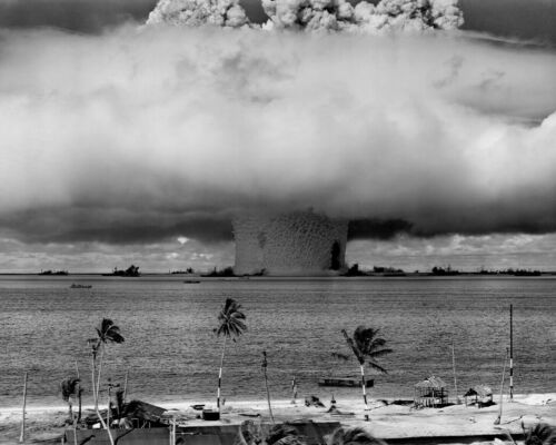 BAKER NUCLEAR BOMB TEST 8X10 PHOTO WWII PICTURE UNDERWATER BLAST MUSHROOM CLOUD