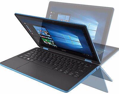 Acer Sky Blue 11 6  Touchscreen Windows 10 Convertible Laptop Webcam Wifi Hdmi